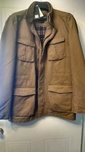 New Men's Autumn Khaki Jacket L/XL