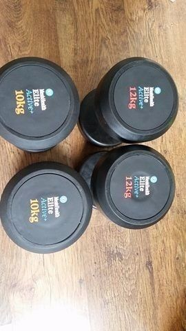 £55 ** Used** Men's Health Rubber Dumbbells Very good condition 2x10 kg 2x12 kg CW1 Area