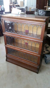 Antique Oak Barristers Bookcase