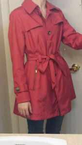 New Red Trench/Rain Water Resistant Stylish