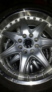 SET OF ENKEI TUNING LOW PROFILE TIRES AND RIMS 215 35ZR 18 INCH