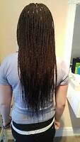 Tresses africaines, extentions de cheveux