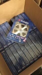 Case of Brand New Verbatim Blank DVD-R Discs w/ Individual Cases