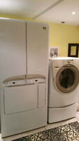 White Maytag Neptune Drying Centre dryer with tons of option