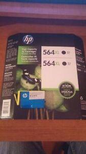 Cartouches HP 564 une noir une jaune