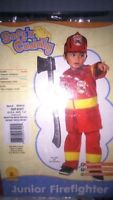 Halloween toddler firefighters costume soft n cuddly