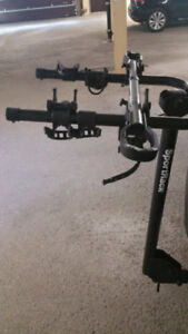 Sportrack bike rack and Thule 982xt bike adapter.
