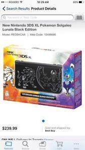 Nintendo 3DS XL LE SolgaLeo Lunala Pokemon Editon *SOLD OUT*