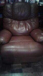 Chocolate Leather Recliner $250 Very Soft