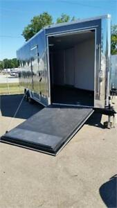 NEW 2019 8.5X20 24 28 ENCLOSED TRAILERS V NOSE RAMP EXTRA HEIGHT