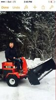 Steiner Tractor Mower UM428 Including Can Am Plow