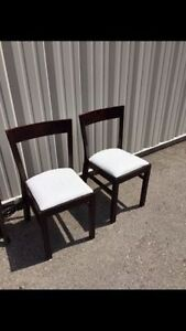 2 Espresso wooden chairs. Good condition London Ontario image 1