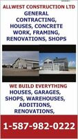 GENERAL CONTRACTING, CONCRETE WORK, BASEMENTS,  GRADE
