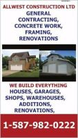 WE DO GENERAL CONTRACTING, CUSTOM SHOPS AND GARAGES, CONCRETE