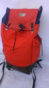 External Frame Vintage Leather External WOOD  MOUNTAIN Backpack BAG