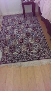 """6'8"""" x 4' silk and wool Persian Rug in mint condition"""