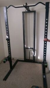 Northern Light Squat Rack, Lat Tower, Chin Up Bar, Safety no bar