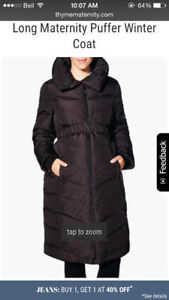 Black Thyme Maternity Puffer Jacket