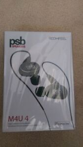 NEW SEALED PSB M4U 4 High Performance In Ear Headphones