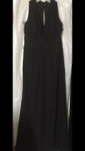 Black Chiffon Dress - Size 12