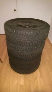 205/65R15 Hankook Winter iPike RS Tires with Rims