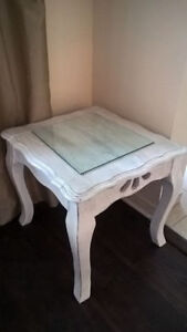 Shabby Chic White End Table for sale