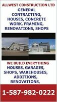 GENERAL CONTRACTING,CUSTOM HOMES, CONCRETE WORK, GARAGES