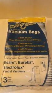 Micro Filter bags for ELECTROLUX BEAM 3pk -Jvac 395ECM