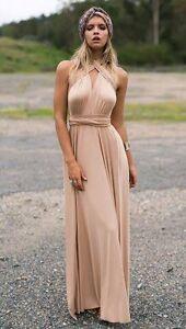 Nude Formal Maxi Wrap Dress NWT Sz 8-12 Middle Park Brisbane South West Preview