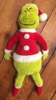 Large GRINCH stuffed toy - excellent shape - $15