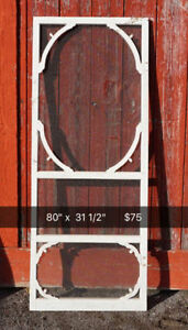 Antique screen door -  wood