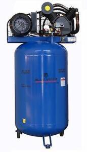 New 5 HP 220V 1PH Shop Air Compressor Vertical Tool