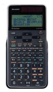 Sharp ELW516XGBSL Write View 640 functions 16 Digit Scientific Calculator 4 line normal stat drill complex matrix list