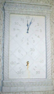 Decorative Outdoor clock and thermometer