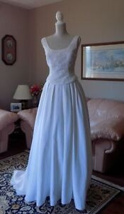 White Satin Wedding Dress, Excellent Condition - REDUCED!