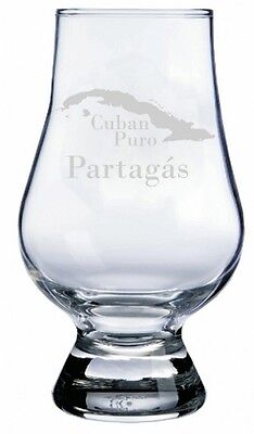 Partagas Cuban Cigars (Partagas Cuban Cigar Engraved Glencairn Crystal Scotch Whisky)