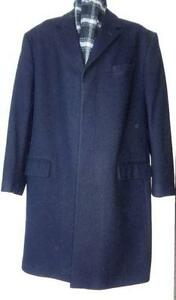 BANANA REPUBLIC // NEW // MENS XL WINTER COAT // Black 46 48 LONG WOOL //