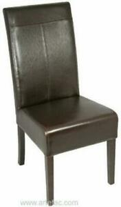 On Sale 8 Leather Dining Chair in Brown or Black