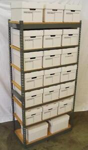 E-Z-Rect File Box Shelving, archive storage, bankers box storage