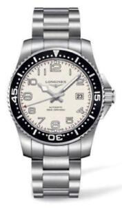 NEW Longines Hydro Conquest WHITE DIAL BLK BEZEL L36954136
