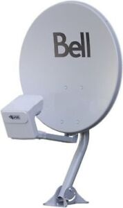 ►BELL SATELLITE HD TV DISH EXPRESSVU ►2X LNBF TWIN ►MOUNT SWITCH