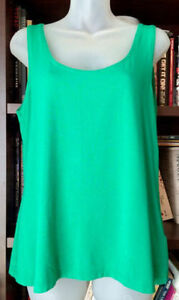 GREEN LAURA TANK - SZ LARGE