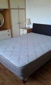 King size Anti Slip bed rare with mattress including headboard. 5ft wide excellent condition Redcar