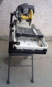 "Power Fist 10"" Wet Tile Saw with Stand on wheels"