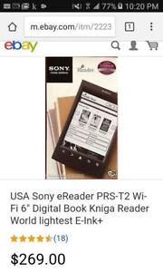 Sony E-Reader PS-T2 with WiFi...