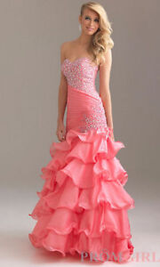 Pink Strapless Beaded Dress by Night Moves