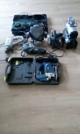 compressor, drill, sander,jig saw, plane, reciprocating saw all for £100