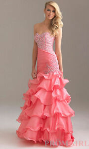 Pink Strapless Beaded Dress by Night Moves Windsor Region Ontario image 1