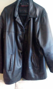 Leather 3/4 length coat