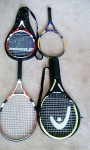 4 Tennis racquets for sale